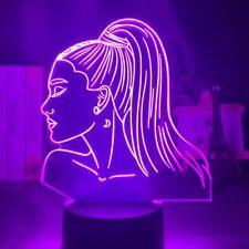 3d Night Light Singer Ariana Grande Gift for Fans Bedroom Decor Light Led Touch