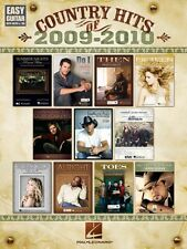 Country Hits of 2009-2010 Sheet Music Easy Guitar with Notes & Tab Eas 000702282
