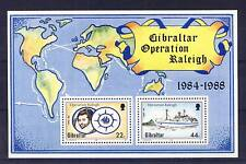 TIMBRE DE GIBRALTAR BLOC N° 10 OPERATION RALEIGH