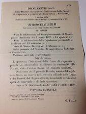Regio Decreto 7/10/1874 Istituzione Cassa di risp. e prestiti di Montepoloso-739