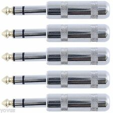 """5 LOT PACK 1/4"""" inch TRS stereo male audio plug 6.3mm phone phono connector jack"""
