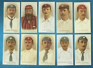 Wills cigarette cards - CRICKETERS 1896 - Full mint condition set.