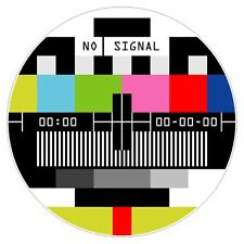 No Signal TV Television sticker auto moto truck bumper decal funny warning new
