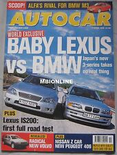 AUTOCAR magazine 7/4/1999 featuring Lexus IS200 Sport road test, BMW