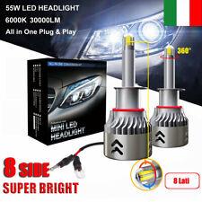 8 Lati 110W 30000LM H1 Auto Canbus LED Fari Lampade Kit Luminoso Bianco 6000K