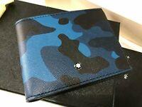 MONTBLANC Sartorial 4CC Saffiano Leather Mens Camoflouge Money Clip Wallet $350