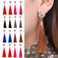 Women Vintage Long Tassel Fringe Boho Dangle Earrings Fashion Bohemian Earrings