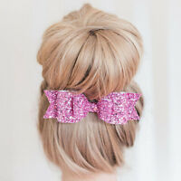 Fashion Crystal Women Big Bowknot Barrette Hairpin Hair Clip Bow Girls