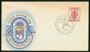 MayfairStamps Australia 1956 Melbourne Games Sikilda Town Hall Cover wwp80619