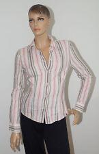 Esprit Bluse Damen Langarm weiß rosa gestreift Größe S (1509A#) 11/2019