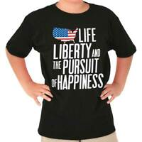 Life Liberty The Pursuit Of Happiness USA Youth T-Shirt Tees Tshirt For Kids