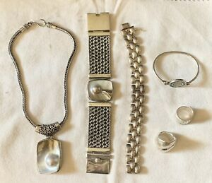 Huge 280+ Grams - .925 Sterling Silver Jewelry Lot - .99 Start No Reserve !!!
