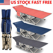 US Folding Bed Camping Cot Sleep Travel Carry Breathable +Store Bag Up to 600LBS