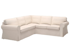 NEW IKEA Ektorp Corner Sofa 2+2 4 Seat Sectional Slipcover Cover Lofallet Beige!