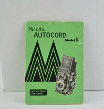 Minola Autocord Model L Instruction Booklet User Guide English AC (242)