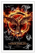 CAST - THE HUNGER GAMES MOCKINGJAY SIGNED PHOTO PRINT AUTOGRAPH