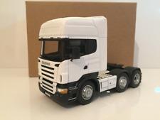 Scania White R Topline Cab Tractor Unit Oxford Diecast CR026 1:50 Scale