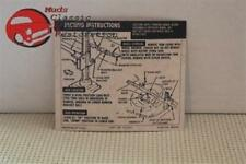 67-68 Camaro Jack Instructions Decal