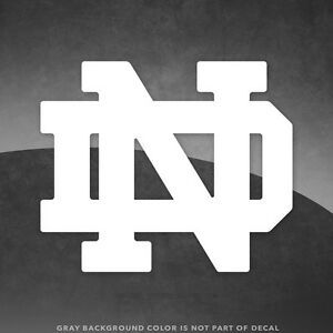 """Notre Dame ND Irish Logo Vinyl Decal Sticker - 4"""" and Up - More Colors"""