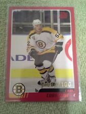 2003-04 Topps Carl Corazzini Rookie RC Red Foil Parallel #d/100 Boston Bruins