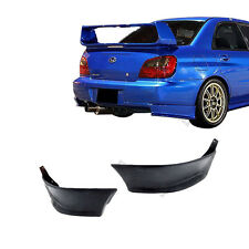For 02-07 Subaru Impreza Wrx Rear Bumper Lip Spoiler Bodykit Splitter 2Pcs Black