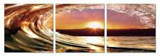 """47"""" FRAMED Hot Modern Contemporary Canvas Wall Art Print Sunset Wave"""