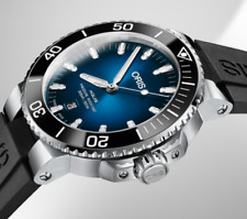 Oris Taucher Uhr Aquis CLIPPERTON LIMITED EDITION Full Set in Box NEU Kautschuk