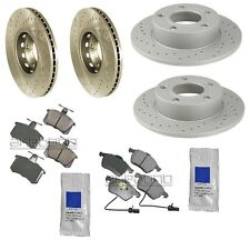 Audi A4 Quattro 2/99-01 Brake Kit Front+Rear Zimmerman Rotors with Pads Paste