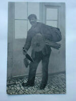 """Sweep-O"" Chimney Sweep Vintage Postcard Social History Rural Life"