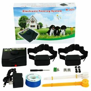 Wireless Dog Fence - Wire underground - Rechargeable and Waterproof