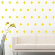 "4"" Set of 96 Light Yellow Diamond Shape Wall Decal Vinyl Sticker Wall Pattern De"