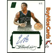 2015-16 Eric Bledsoe Panini Flawless Premium Ink Green Emerald on Card Auto