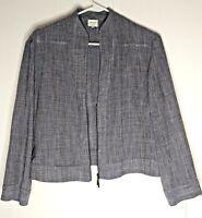Womens Armani Collezioni,Casual/Business,3/4 Zip,Blue Linen Jacket/Blazer SZ 14