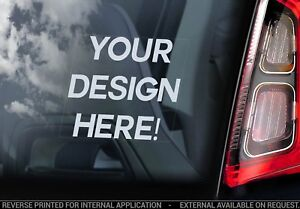 Custom Car Window Sticker - Personalized Decal Design Service - ASK FOR DETAILS