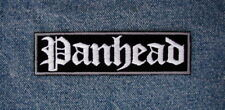 LARGE PANHEAD Biker Motorcycle Patch by Dixiefarmer Gray and White on Black