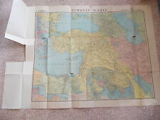 "A Large Antique Map Of TURQUIE D'ASIE In Original Paper Folder - 39"" x 30 1/2""."