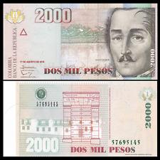 Colombia 2000 2,000 Pesos, 2012, P-457, UNC