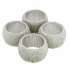 Artist Haat Table Decoration Glass Napkin Rings Sets of 4 Home & Parties Décor