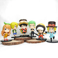 Sabo luffy mini 6pcs figure PVC doll toy dolls figures gift anime 2021