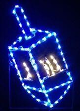 Jewish Hanukkah Dreidel Outdoor LED Lighted Decoration Steel Wireframe
