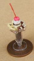1:12 Chocolate Ice Cream Sundae Dolls House Miniature Kitchen Food Accessory I35