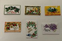 Dolls House Miniature 1/12th Scale Set of 6 Victorian Christmas Postcards X13
