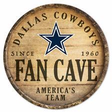 NFL Dallas Cowboys Fan Cave Rund Wood Sign Holzschild Holz Deko Football