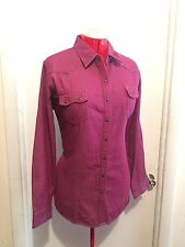 Bit & Bridle Purple Denim Jean Snap Front Western Shirt Womens Plus Size 1X