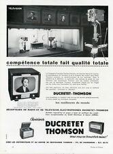 """""""DUCRETET-THOMSON"""" Annonce originale entoilée fin 40 25x33cm"""