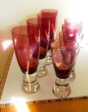 Block Crystal Amethyst Glassware - 4 Wine & 4 Goblets (Poland)