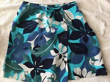 NWT TAIL Tennis 100% Rayon Lined Skirt Skort Tropical Floral Scene Wrap Style