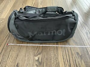 Marmot Duffel Bag Long Hauler 35L Backpack Rain Flap Black Small