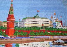 handgemacht Bild Kreml Lenin Putin Russland Moskau 95x70 Gobelin Stickerei