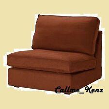 IKEA Kivik One-Seat Sofa Cover Tullinge RUST Brown(OttomanAvail-DiscntShp)Chair